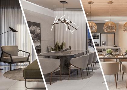 Tipos de luminárias para ambientes de apartamento