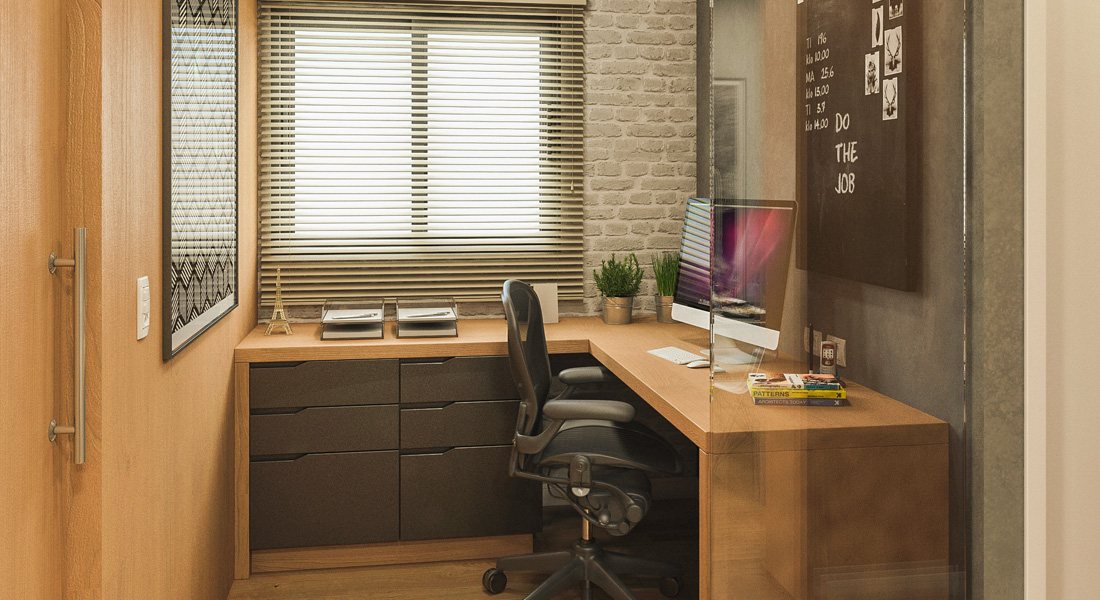 Home Office - Apto. 48m² - Le Monde