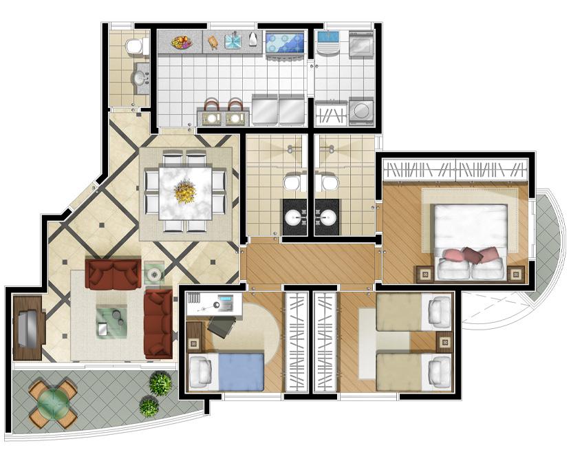 Anabela residencial planta de 98